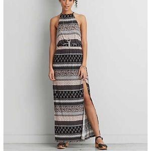 AEO soft and sexy high low maxi dress black